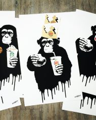 Thirsty Bstrd Fast Food Monkeys Prints