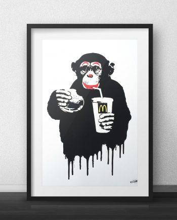 Fast Food Monkey McDonalds Thirsty Bstrd