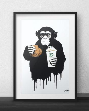 Fast Food Monkey Starbucks Thirsty Bstrd