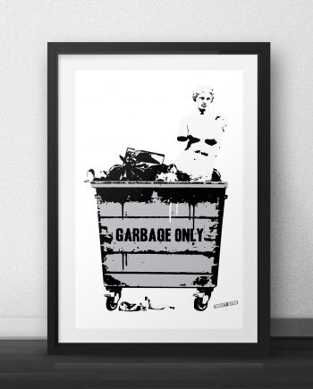 Thirsty Bstrd - Venus in a Trash Can Screenprint