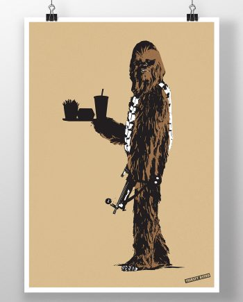 chewbacca_caveman_fast_food_banksy_thirsty_bstrd_urban_art_star_wars_print