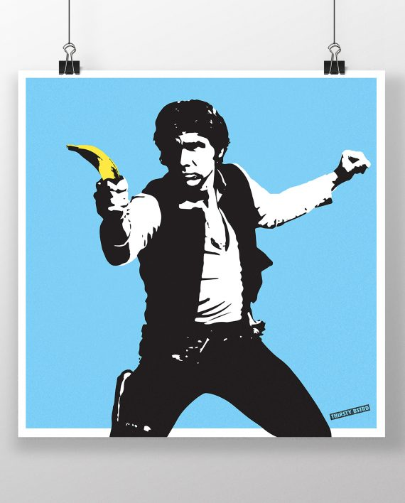 han_solo_banana_pulp_fiction_banksy_thirsty_bstrd_urban_art_star_wars_print