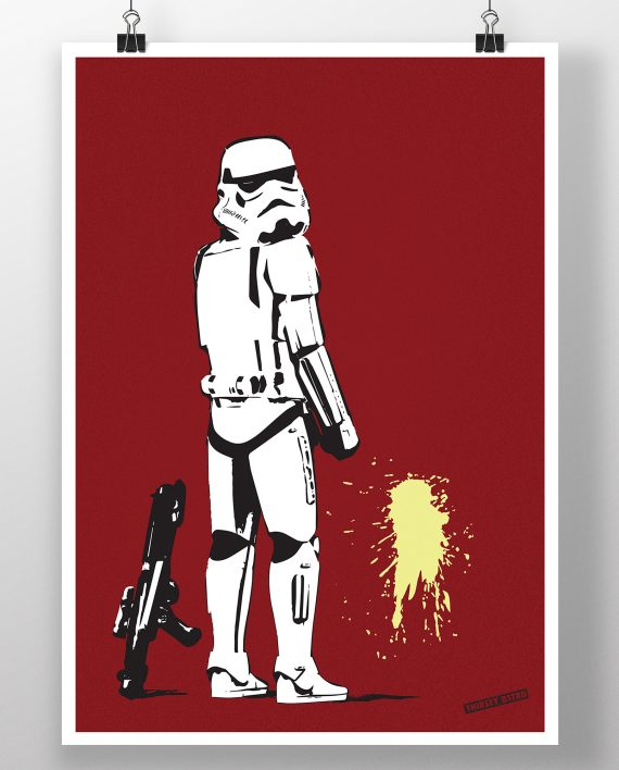 pissing_stormtrooper_guard_banksy_thirsty_bstrd_urban_art_star_wars_print