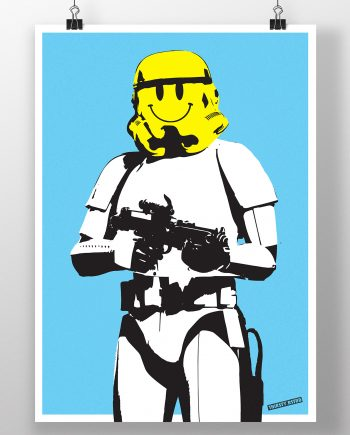 smiley_face_stormtrooper_cop_banksy_thirsty_bstrd_urban_art_star_wars_print