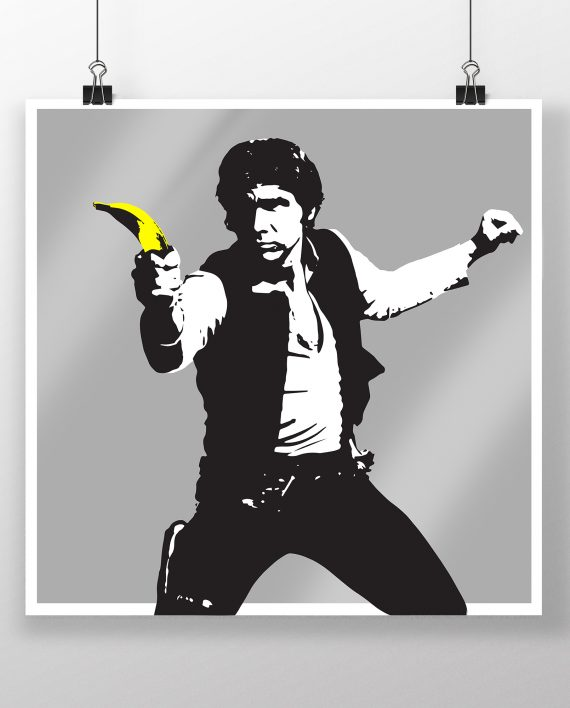 Han_Solo_Banana_Silver_Pulp_Fiction_Banksy_Thirsty_Bstrd_Urban_Art_Star_Wars_Print